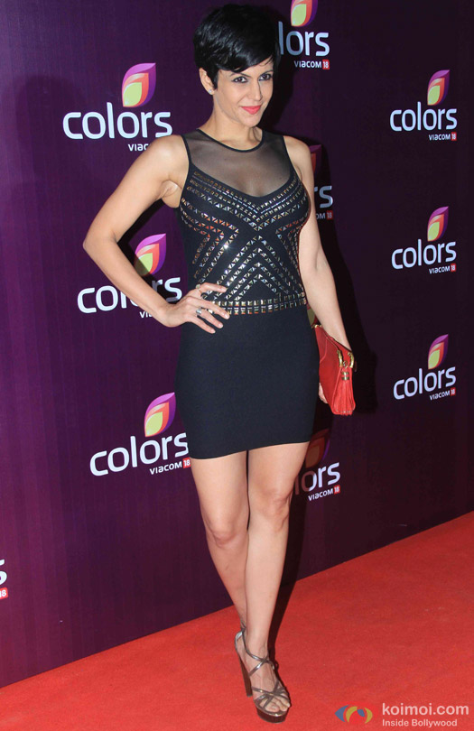 Mandira Bedi during the red carpet of Colors Party 2015