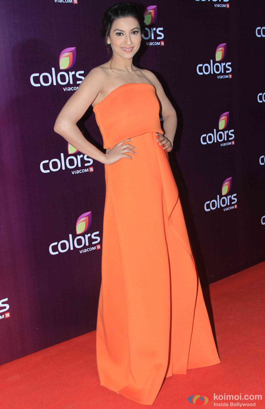 Gauhar Khan during the red carpet of Colors Party 2015
