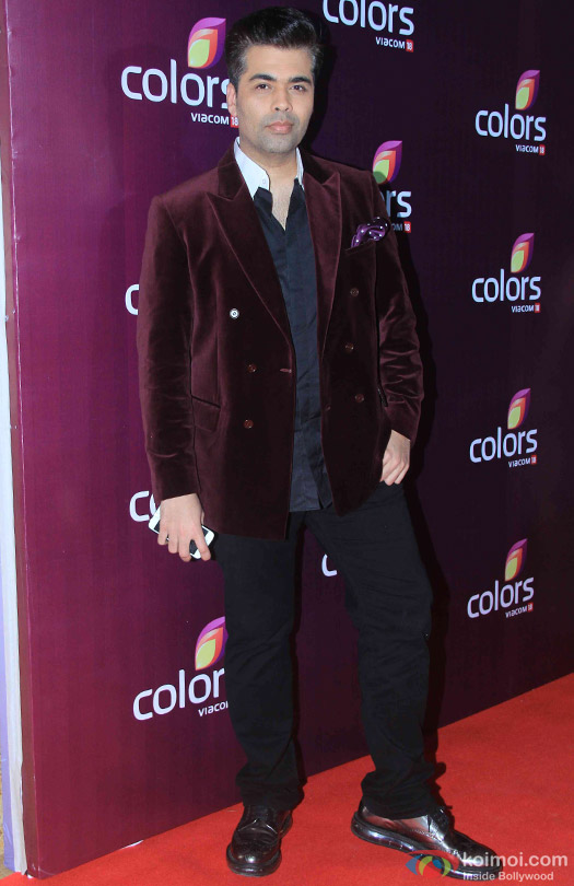 Karan Johar during the red carpet of Colors Party 2015