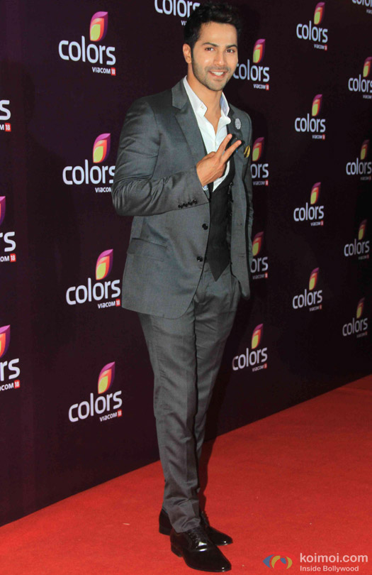 Varun Dhawan during the red carpet of Colors Party 2015