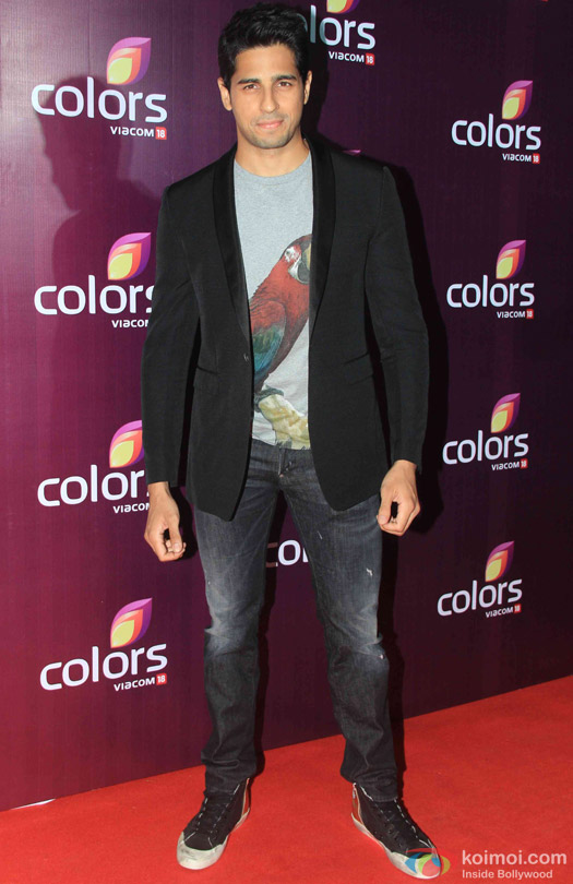 Sidharth Malhotra during the red carpet of Colors Party 2015