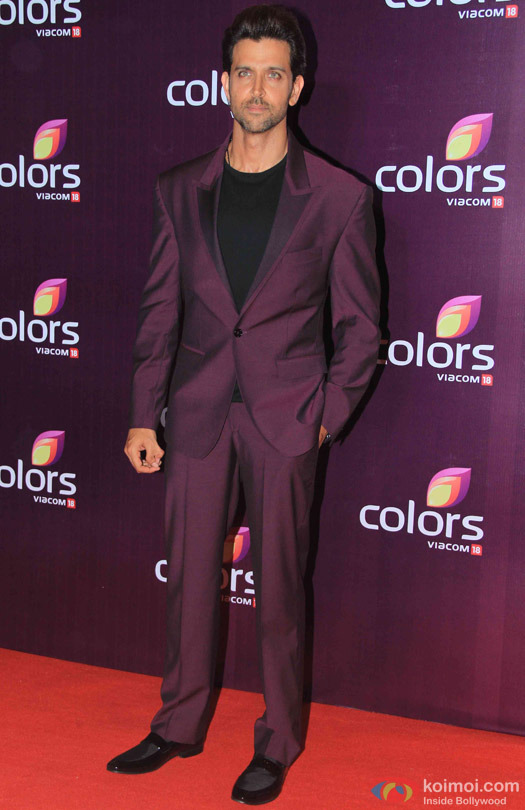 Hrithik Roshan during the red carpet of Colors Party 2015