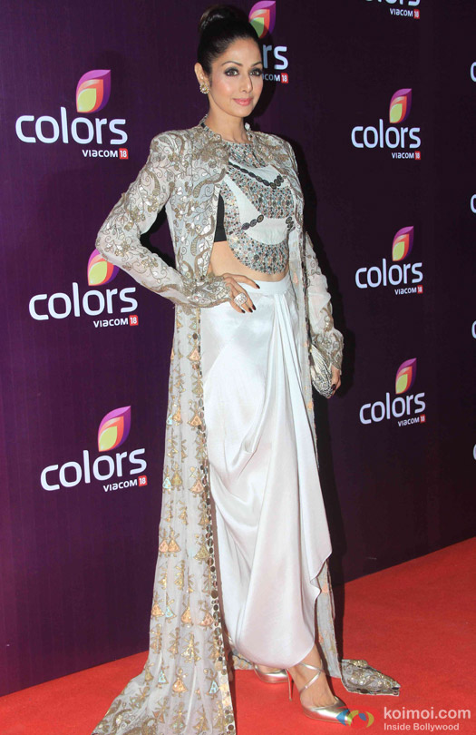 Sridevi during the red carpet of Colors Party 2015