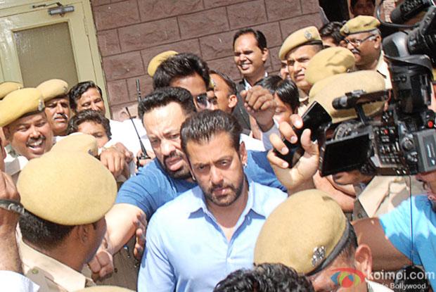 Salman Khan appeared in the Jodhpur court