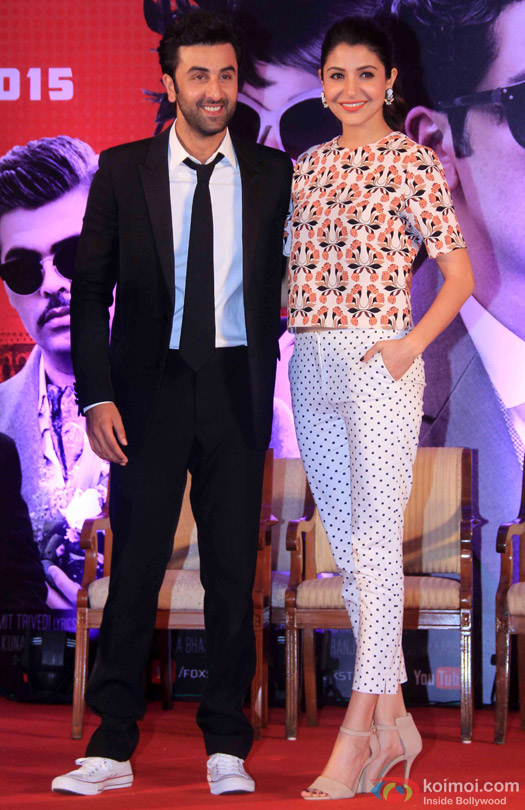 Ranbir Kapoor and Anushka Sharma during the launch of second trailer of movie 'Bombay Velvet'