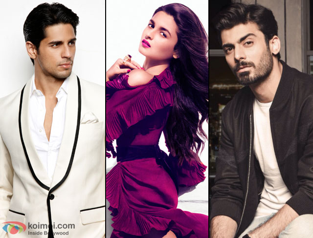 Sidharth Malhotra, Alia Bhatt and Fawad Khan