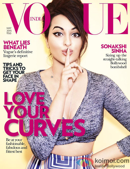 Sonakshi Sinha Says 'Shhh' On The Vogue Cover
