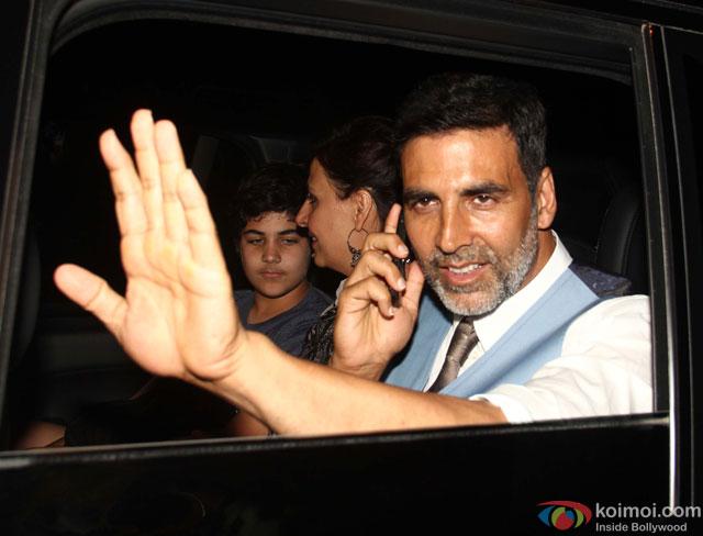 Akshay Kumar at special screening of movie 'Gabbar Is Back'