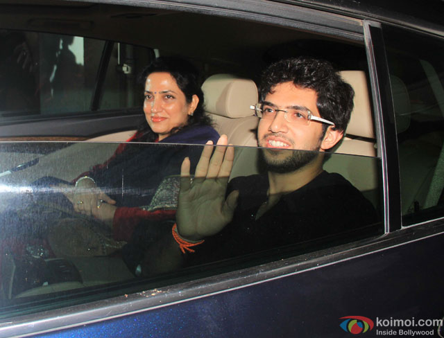 Aditya Thackeray at special screening of movie 'Gabbar Is Back'