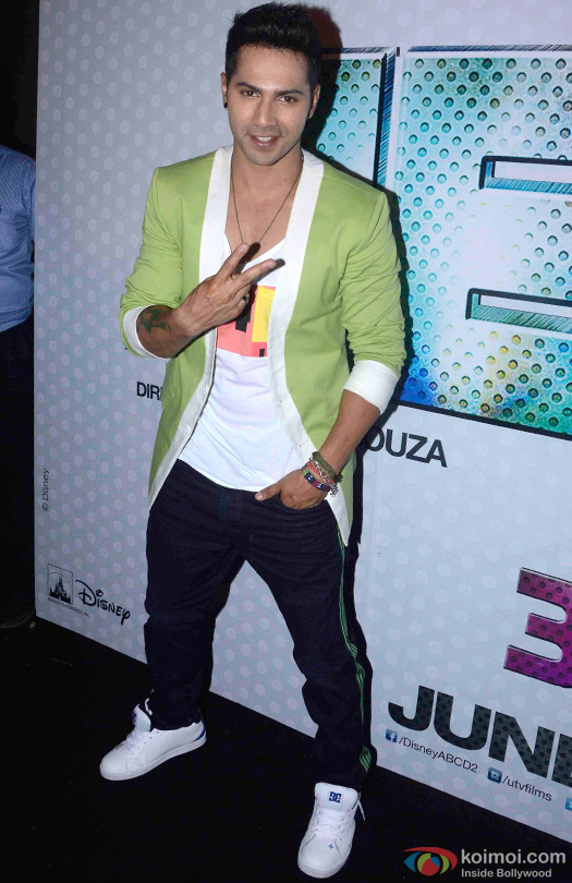 Varun Dhawan during the trailer launch of movie 'ABCD – Any Body Can Dance 2'