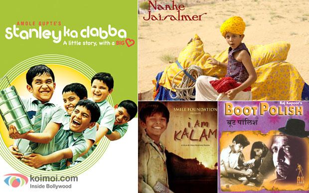 Stanley Ka Dabba, Nanhe Jaisalmer, I am Kalam and Boot Polish movie posters