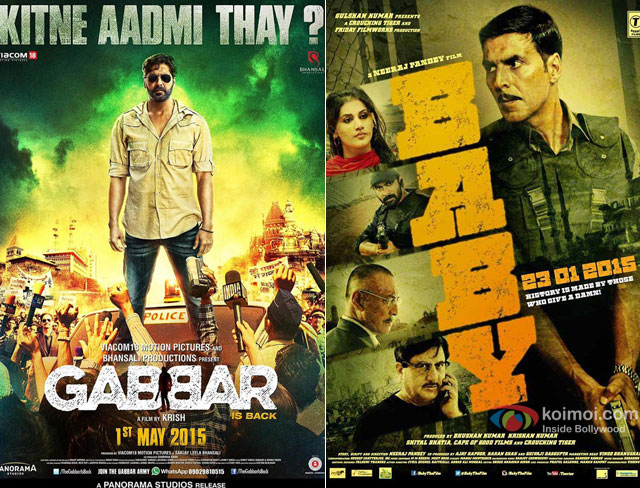 Akshay Kumar's 'Gabbar Is Back' and 'Baby' Movie Poster