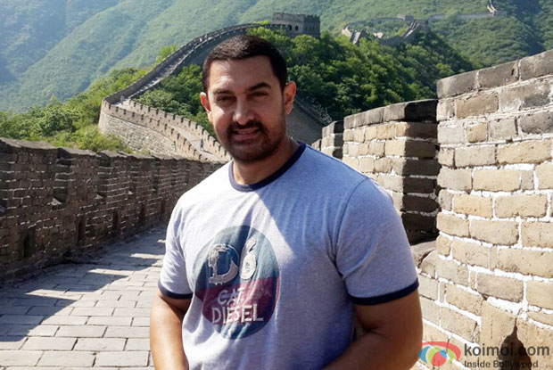 Aamir Khan visiting The Great Wall of China