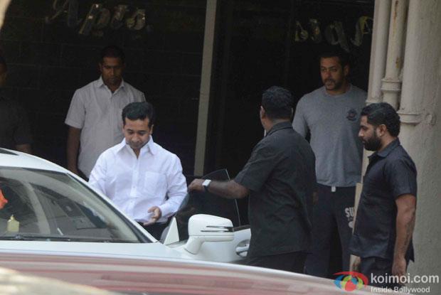 Nitesh Narayan Rane Visit Salman Khan At Galaxy Apartments