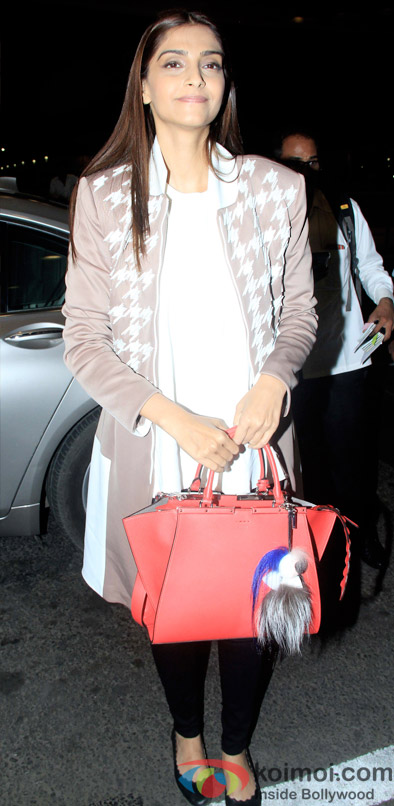 Spotted : Sonam Kapoor Leaving For Cannes 2015