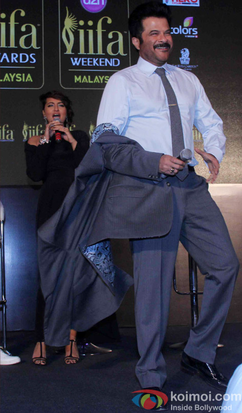 Sonakshi Sinha and Anil Kapoor during the announcement of the 16th IIFA Weekend and Awards