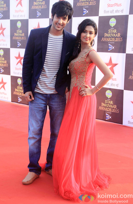 Shivin Narang and Farnaz Shetty during the Star Parivaar Awards 2015