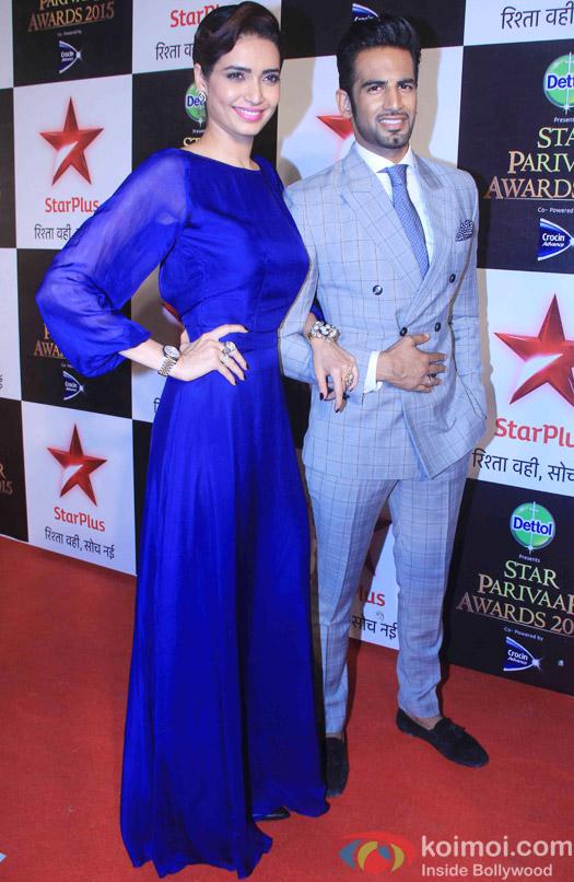 Karishma Tanna and Upen Patel during the Star Parivaar Awards 2015