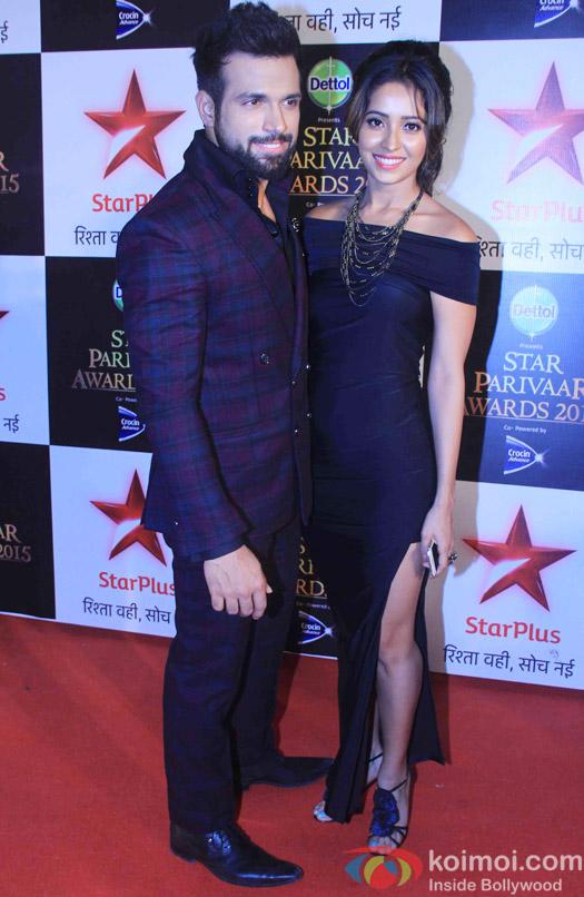 Rithvik Dhanjani and Asha Negi during the Star Parivaar Awards 2015