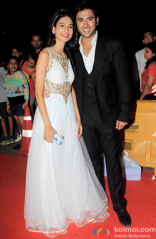 Aneri Vajani and Mishkat Varma during the Star Parivaar Awards 2015