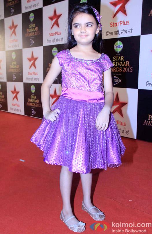 Ruhanika Dhawan during the Star Parivaar Awards 2015