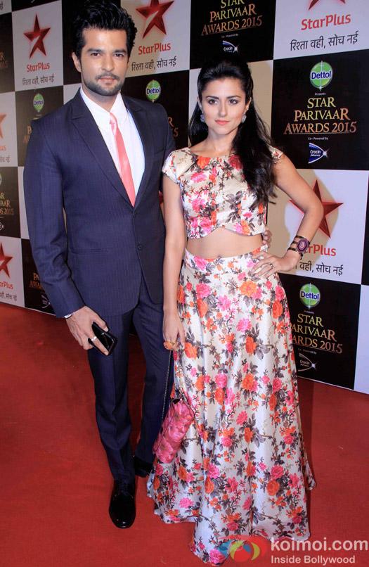 Raqesh Vashisth and Riddhi Dogra during the Star Parivaar Awards 2015