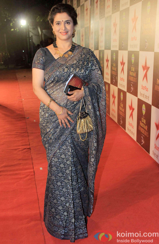 Supriya Pilgaonkar during the Star Parivaar Awards 2015