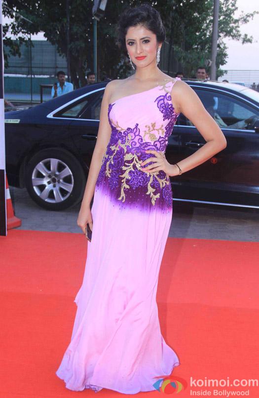 Mihika Verma during the Star Parivaar Awards 2015
