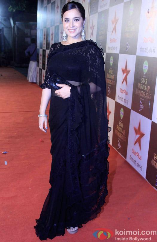 Simone Singh during the Star Parivaar Awards 2015