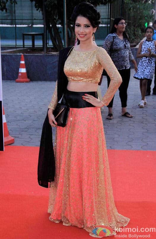 Pooja Gupta during the Star Parivaar Awards 2015