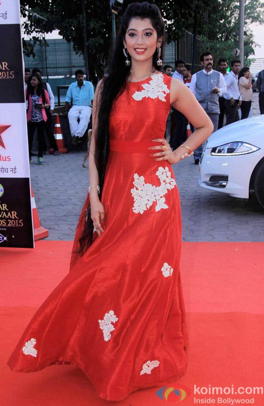 Digangana Suryavanshi during the Star Parivaar Awards 2015