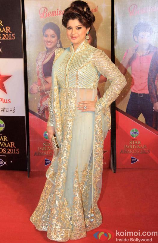Sneha Wagh during the Star Parivaar Awards 2015