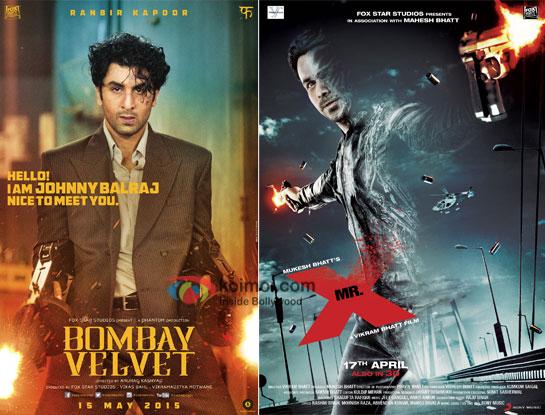 Bombay Velvet and Mr. X movie posters