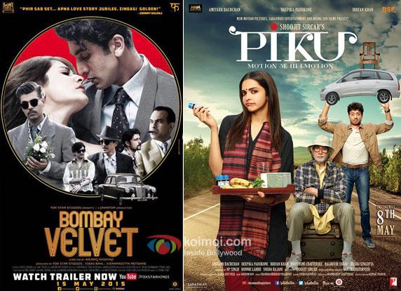 Bombay Velvet and Piku movie posters