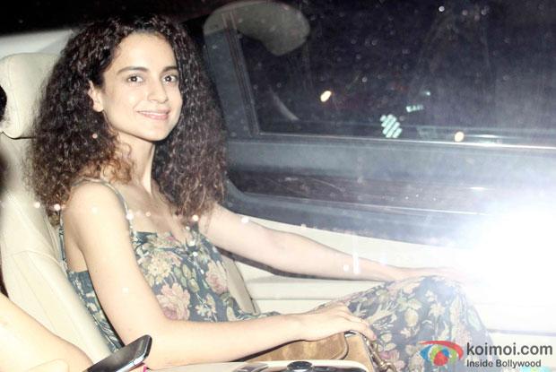 Kangana Ranaut during the special screening of Bombay Velvet at Sunny Super Sound