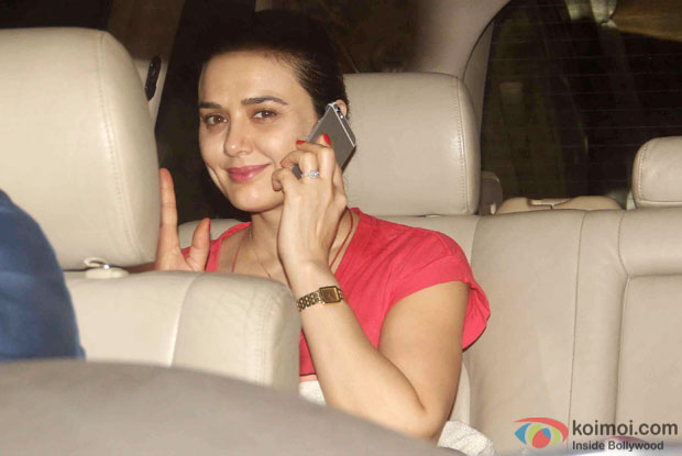 Preity Zinta during the special screening of Bombay Velvet at Sunny Super Sound