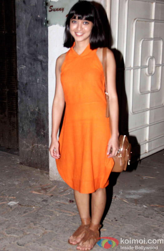Sayani Gupta during the special screening of Bombay Velvet at Sunny Super Sound