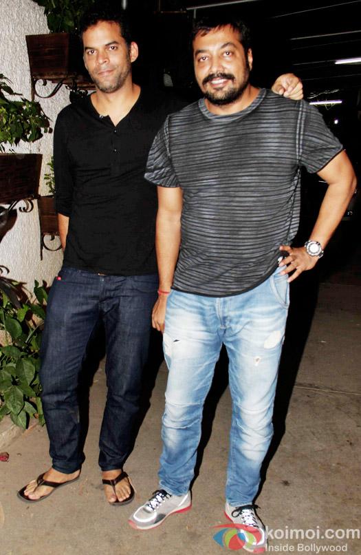 Vikramaditya Motwane and Anurag Kashyap during the special screening of Bombay Velvet at Sunny Super Sound