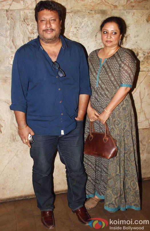 Tigmanshu Dhulia and Tulika during the special screening of Tanu Weds Manu Returns