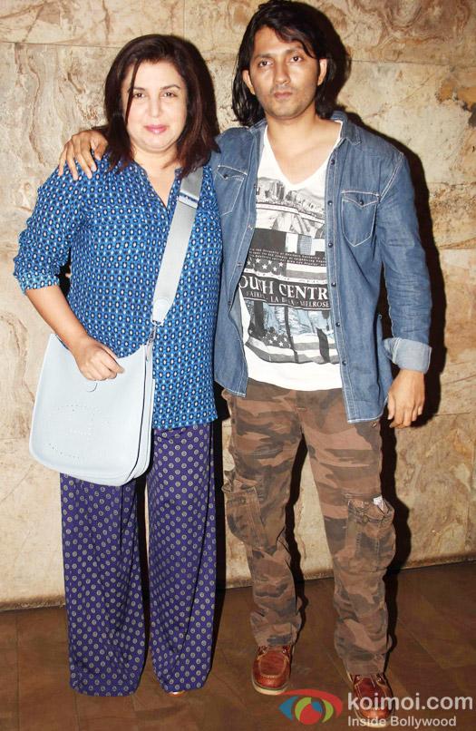 Farah Khan and Shirish Kunder during the special screening of Tanu Weds Manu Returns