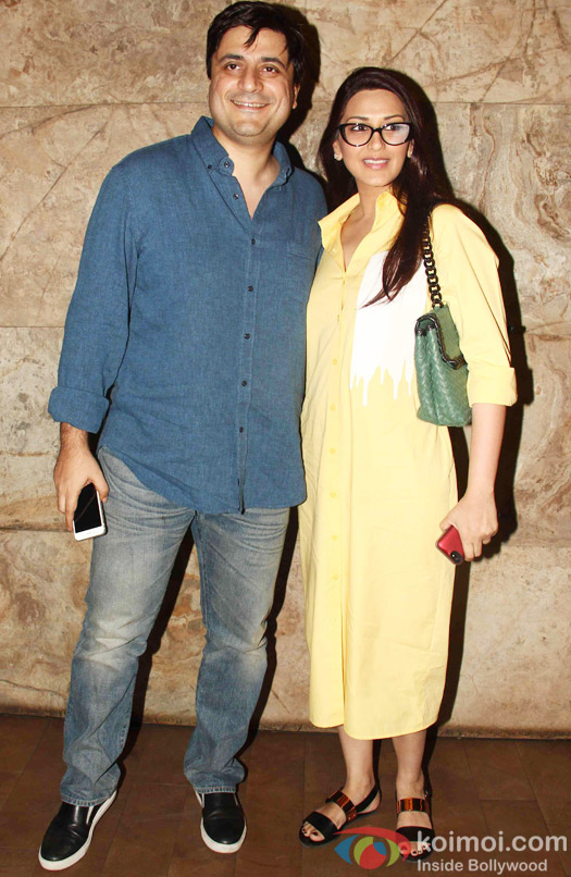 Goldie Behal and Sonali Bendre during the special screening of Tanu Weds Manu Returns