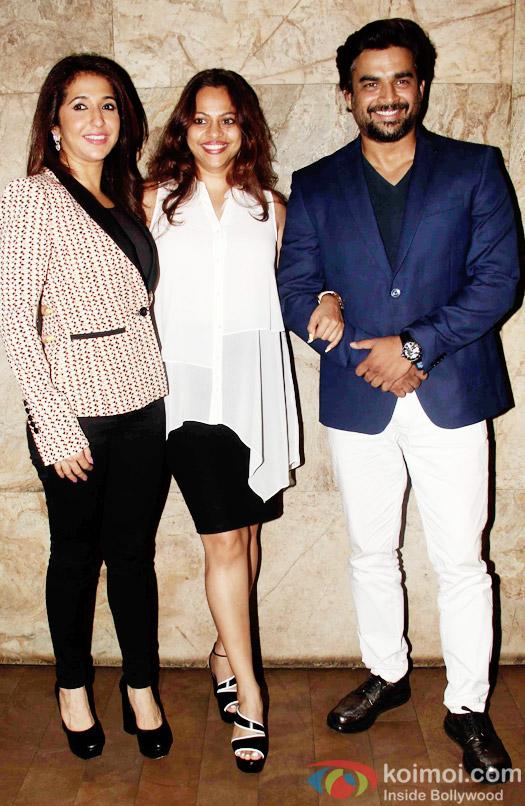 Krishika Lulla, Sarita Birje and R. Madhavan  during the special screening of Tanu Weds Manu Returns