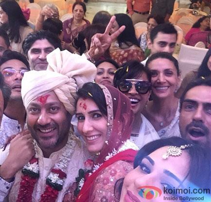 Arjun Rampal during the Wedding of Abhishek Kapoor and Pragya Yadav