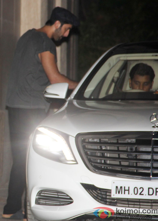 Ranbir Kapoor spotted at his house