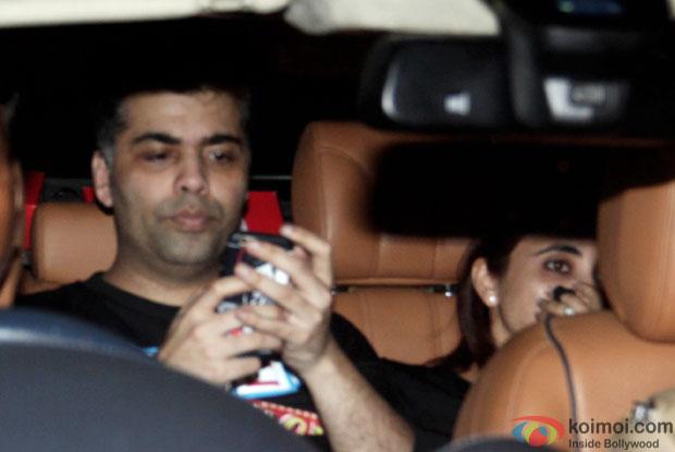 Karan Johar spotted at Ranbir Kapoor's house