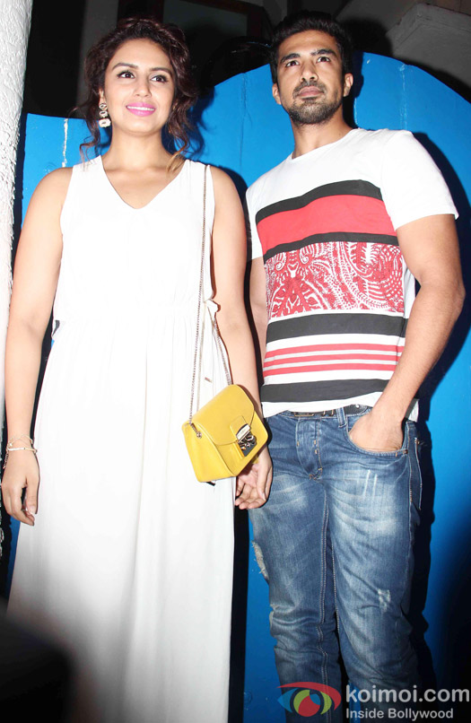 Huma Qureshi and Saqib Saleem at the party hosted by Deepika padukone for the succes of movie Piku