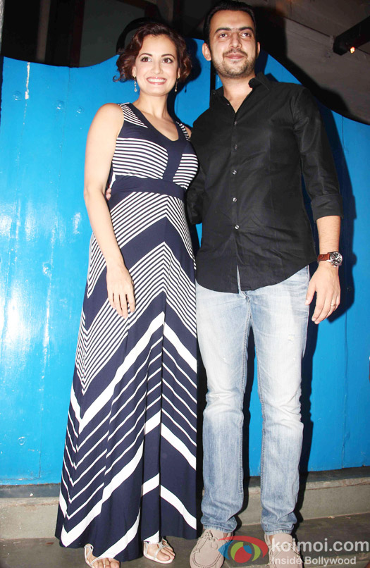 Dia Mirza and Sahil Sangha at the party hosted by Deepika padukone for the succes of movie Piku