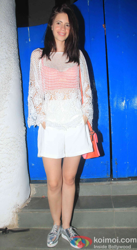 Kalki Koechlin at the party hosted by Deepika padukone for the succes of movie Piku