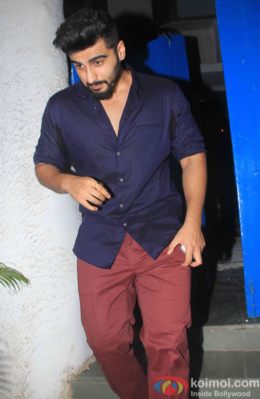 Arjun Kapoor at the party hosted by Deepika padukone for the succes of movie Piku