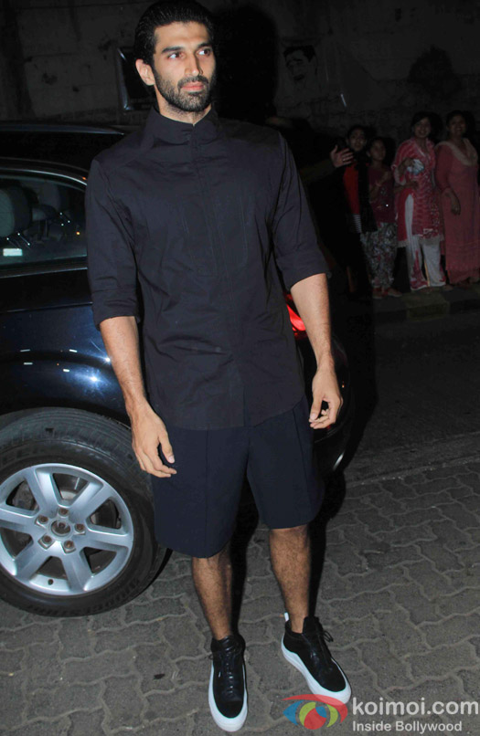 Aditya Roy Kapur at the party hosted by Deepika padukone for the succes of movie Piku